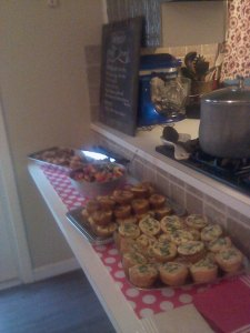This was the selection of mini quiches at the bridal lunch, uhmazing.