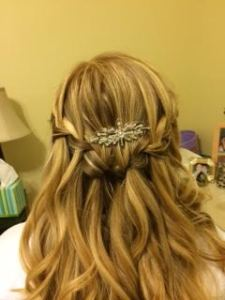 This is my hair for the wedding. M did it, she is so talented.